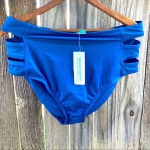 NWT Beach Betty high waist cutout bikini bottom L